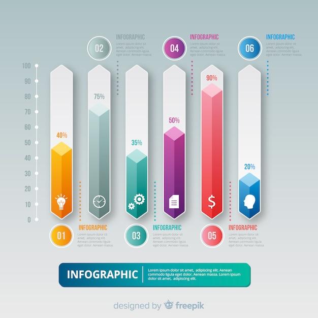 Modèle d'infographie Vecteur gratuit