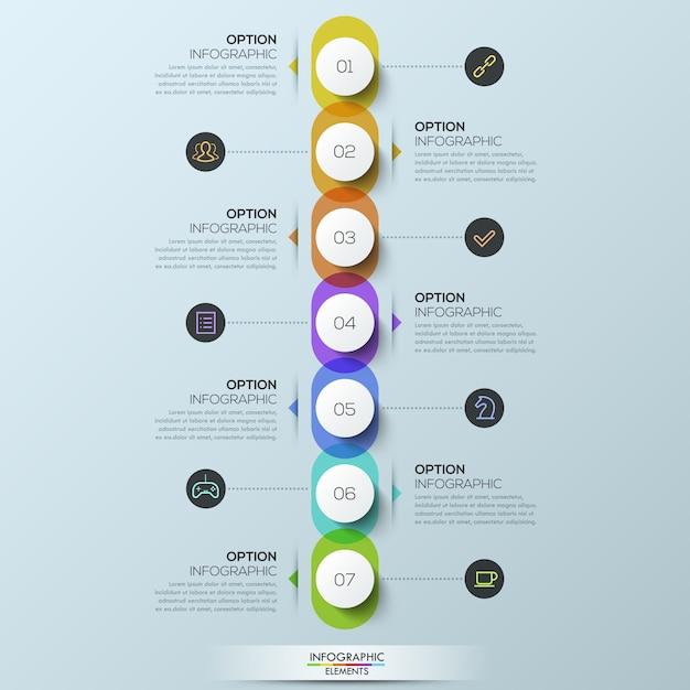 Modèle D'infographie Vecteur Premium