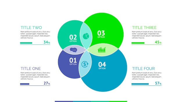 Modèle infographique avec des cercles Vecteur gratuit