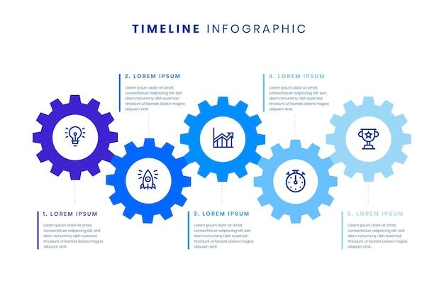 Modèle Infographique De Chronologie Vecteur gratuit