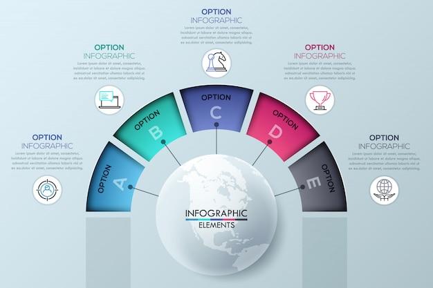 Modèle infographique circulaire Vecteur Premium