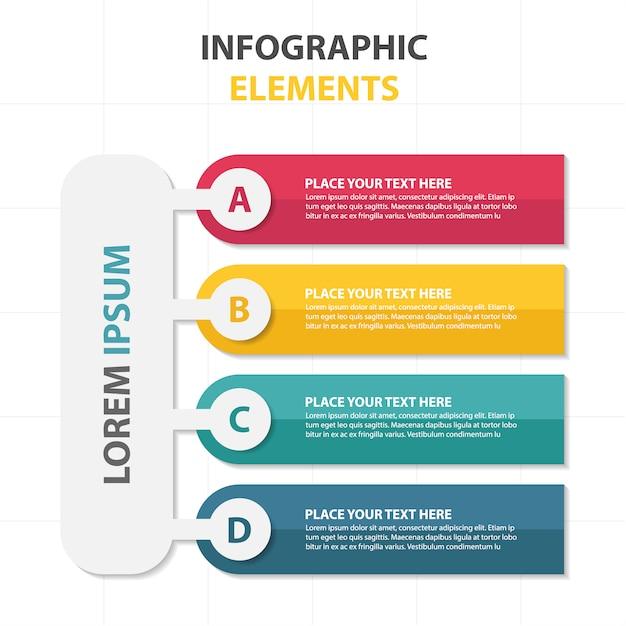 Modèle infographique commercial coloré abstrait Vecteur gratuit