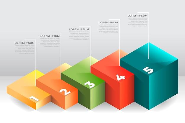 Modèle Infographique De Couches De Blocs Vecteur gratuit