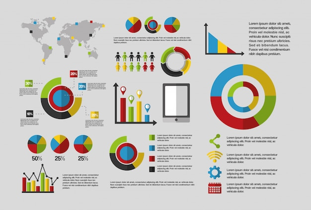 Modèle Infographique De Données Statistiques Vecteur gratuit