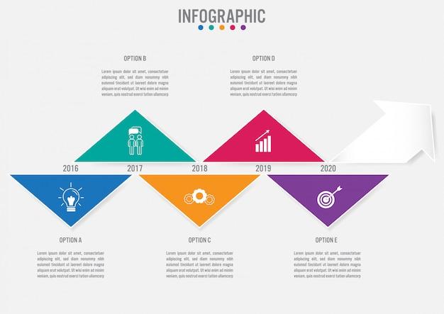 Modèle infographique de l'entreprise Vecteur Premium