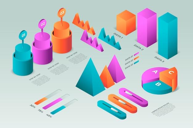 Modèle Infographique Isométrique Multicolore Vecteur gratuit