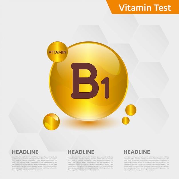 Modèle Infographique De Vitamine B1 Vecteur Premium