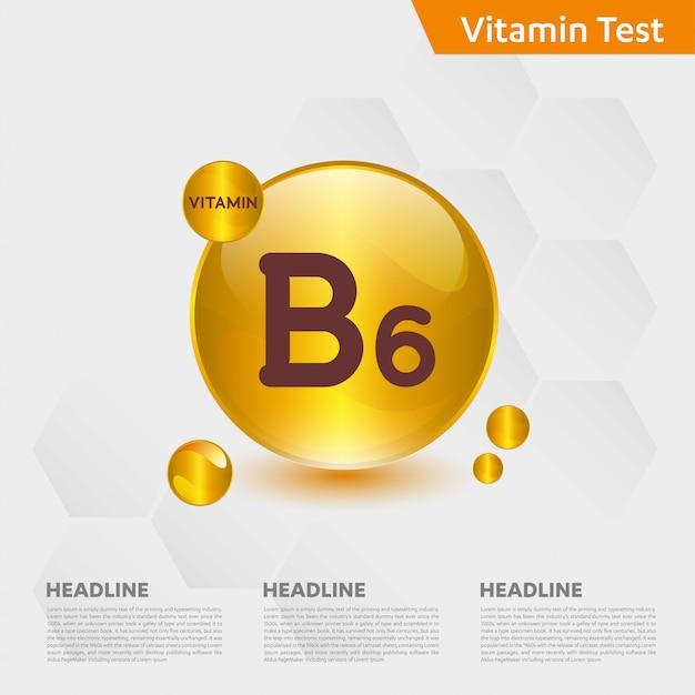 Modèle Infographique De Vitamine B6 Vecteur Premium