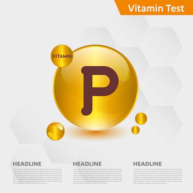 Modèle Infographique De Vitamine P Vecteur Premium