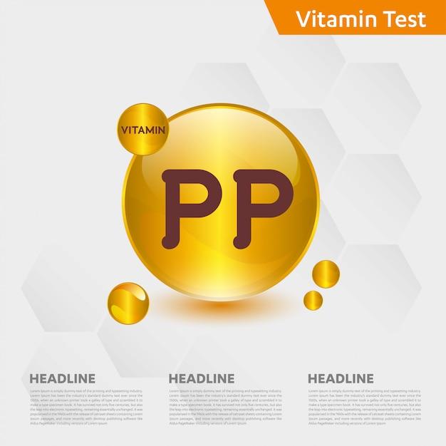 Modèle Infographique De Vitamine Pp Vecteur Premium