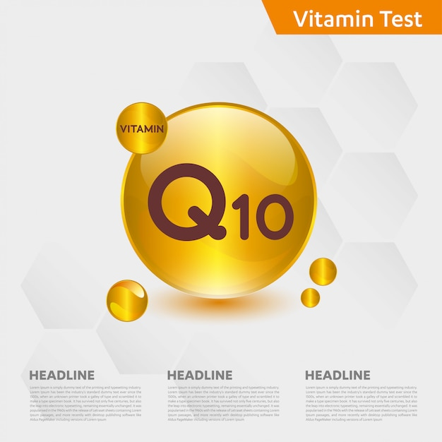 Modèle Infographique De Vitamine Q10 Vecteur Premium