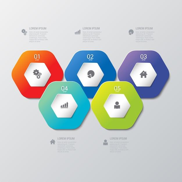 Modèle Infographique Vecteur gratuit