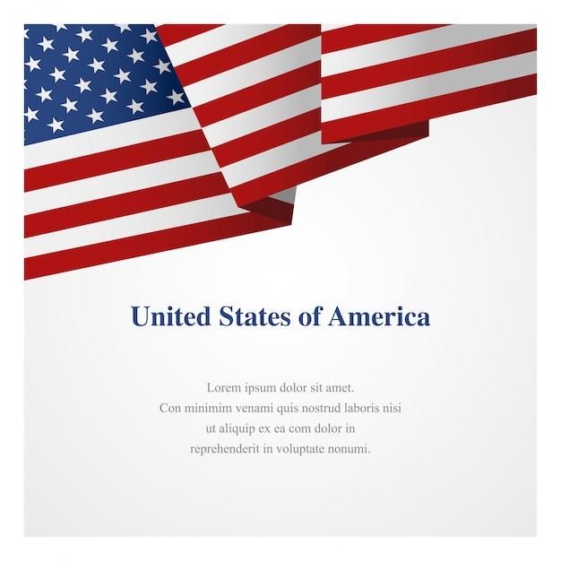 Modèle d'insigne des états-unis d'amérique Vecteur Premium