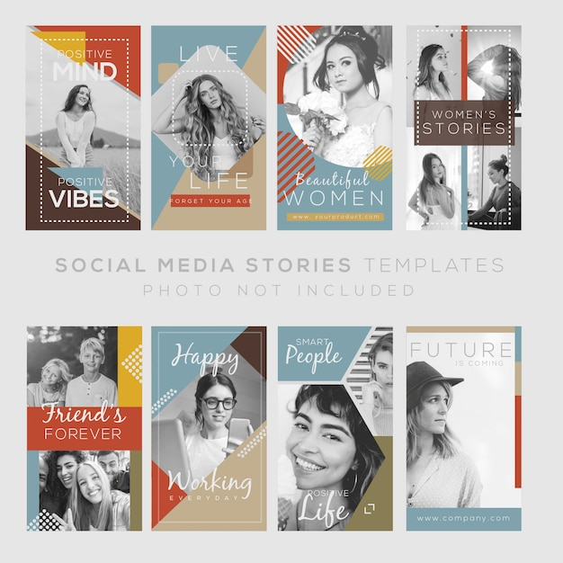 Modèle instagram stories avec citations et design vintage. fichier éditable Vecteur Premium