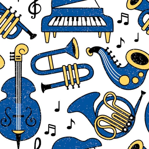 Modèle d'instruments de musique Vecteur Premium