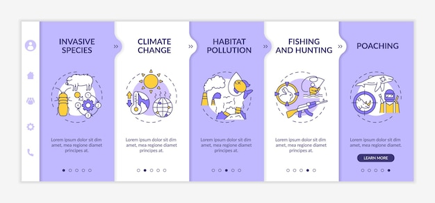 Modèle D'intégration De Dommages Environnementaux Illustrations Isolées Vecteur Premium