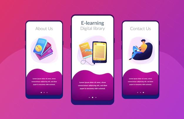 Modèle D'interface D'application Ebook. Vecteur Premium