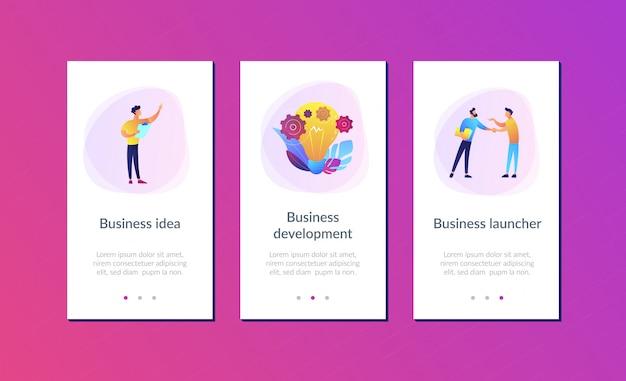 Modèle d'interface d'application idée d'entreprise Vecteur Premium