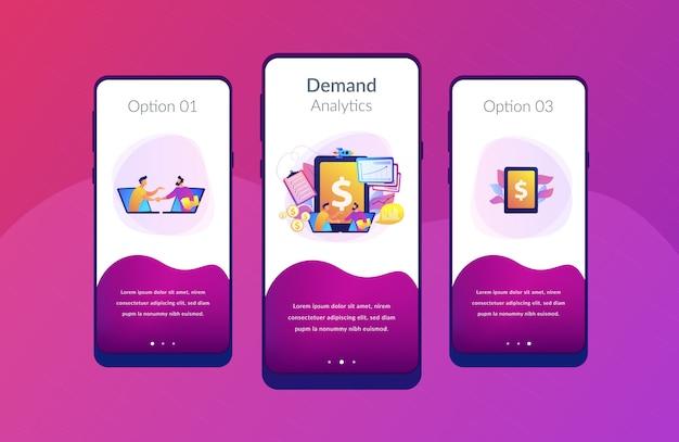 Modèle d'interface d'application de planification de la demande Vecteur Premium