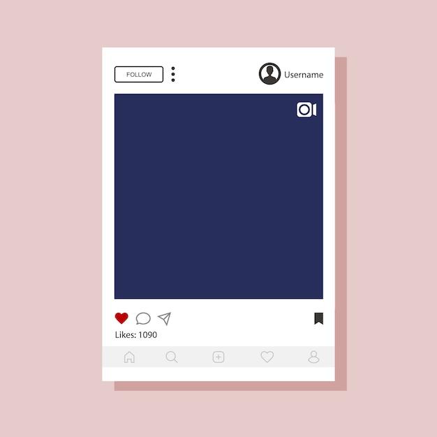 Modèle D'interface Instagram Pour Application Mobile. Vecteur Premium