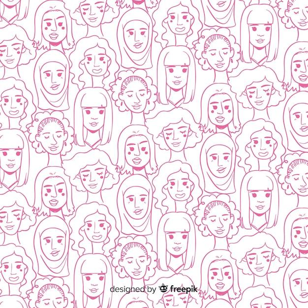 Modèle International De Femmes Vecteur gratuit