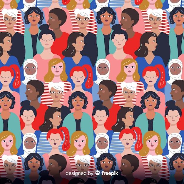 Modèle interracial de femmes Vecteur gratuit