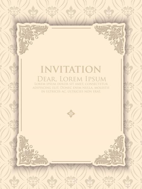 Modèle D'invitation élégant Vintage Vecteur gratuit