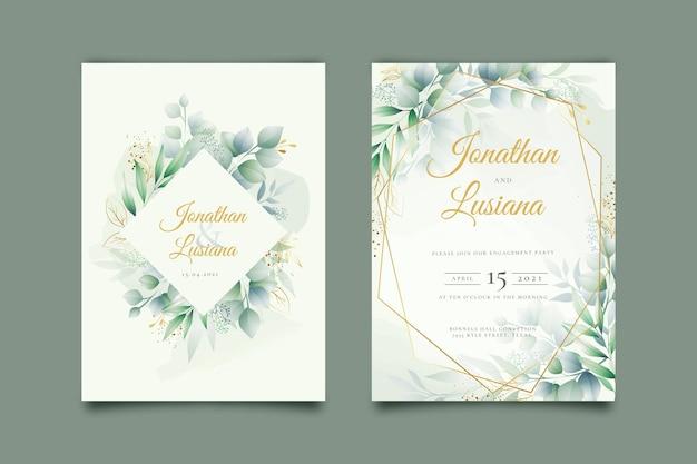 Modèle D'invitation De Fiançailles élégant Vecteur gratuit