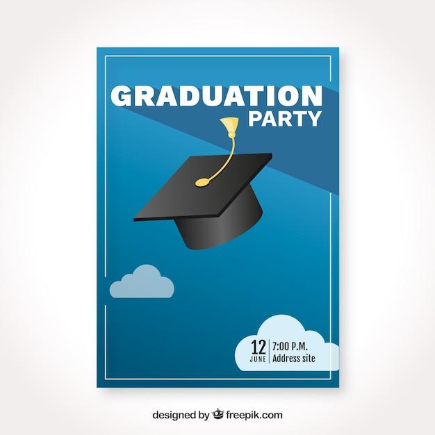 Modèle D'invitation De Graduation Avec Design Plat ...