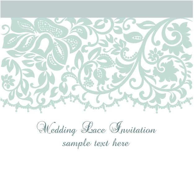 Modèle d'invitation de mariage en dentelle Vecteur gratuit