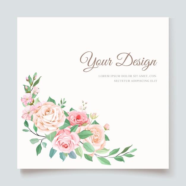 Modèle D'invitation De Mariage De Luxe Vecteur gratuit