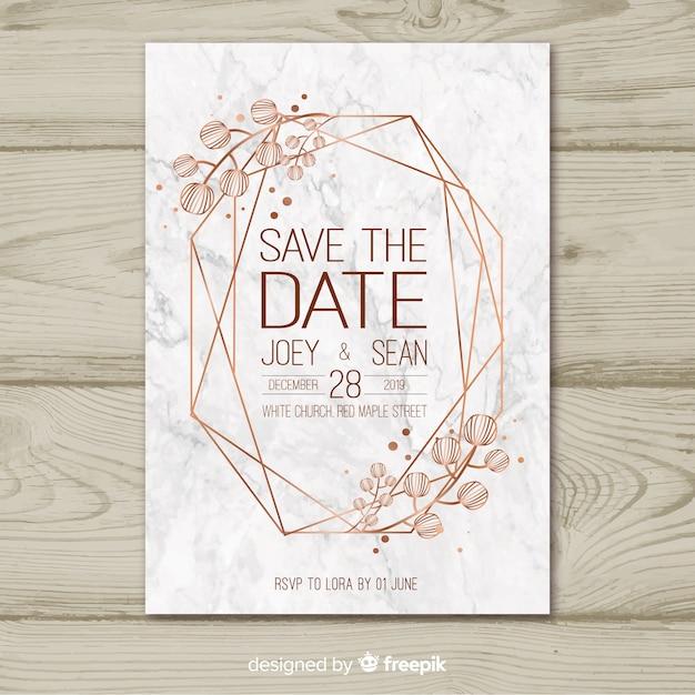 Modèle d'invitation de mariage Vecteur gratuit