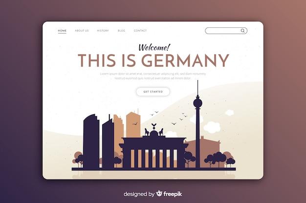 Modèle d'invitation touristique en allemagne Vecteur gratuit