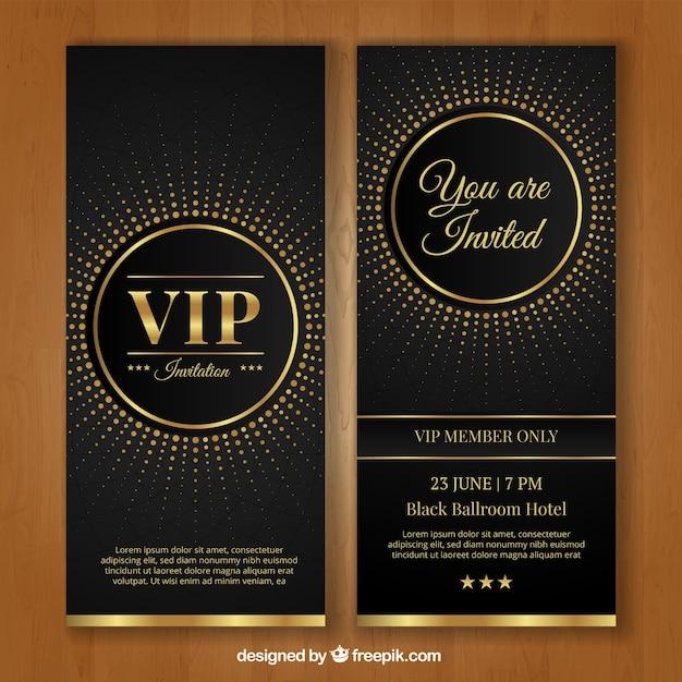 Modèle d'invitation vip Vecteur gratuit