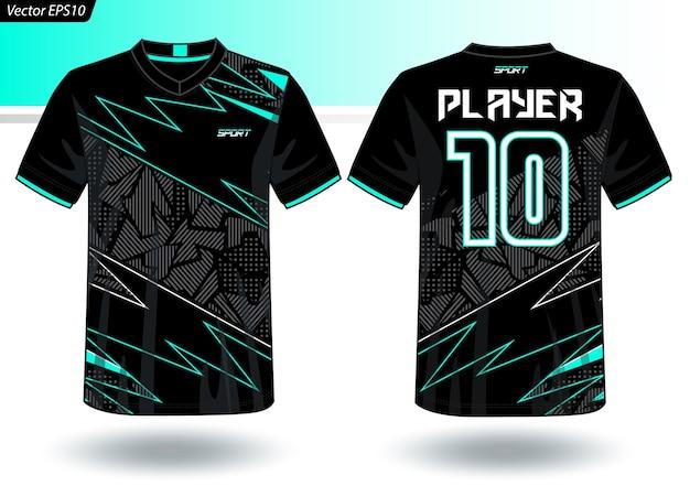 Modèle de jersey de sport pour les uniformes d'équipe Vecteur Premium