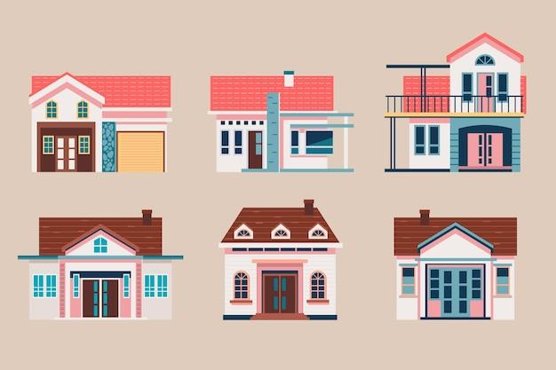 Modèle De Jeu De Maison Design Plat Vecteur gratuit