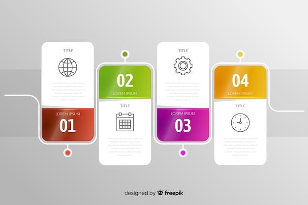 Modèle de jeu de phases d'étapes d'infographie Vecteur gratuit