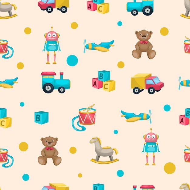 Modèle De Jouets Pour Enfants Vecteur gratuit