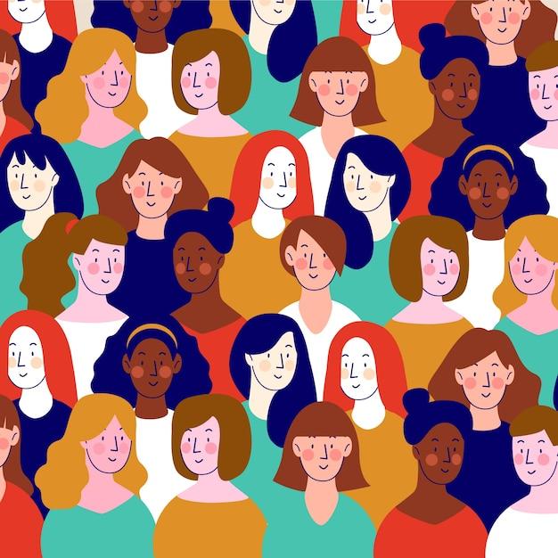 Modèle De Journée Des Femmes Vecteur gratuit