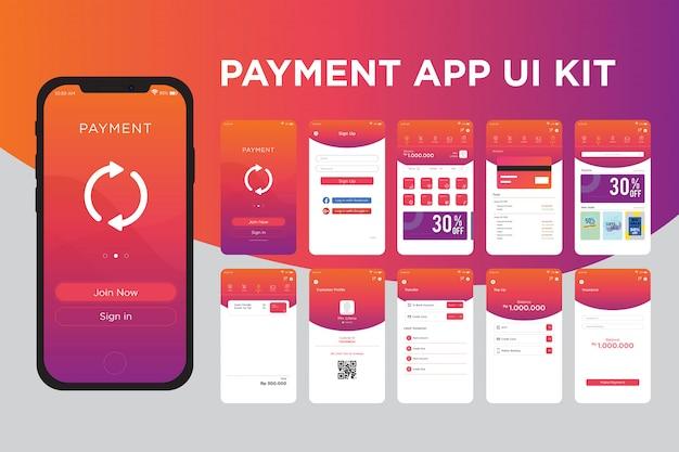 Modèle de kit d'interface utilisateur de paiement Vecteur Premium