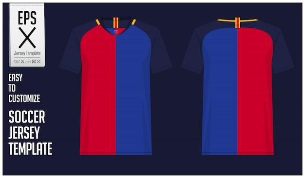 Modèle de kit de maillot de football ou de football minimal Vecteur Premium