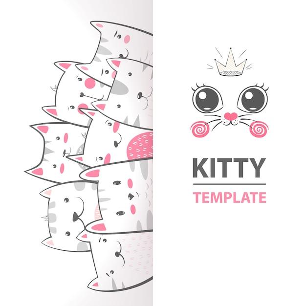 Modèle kitty Vecteur Premium