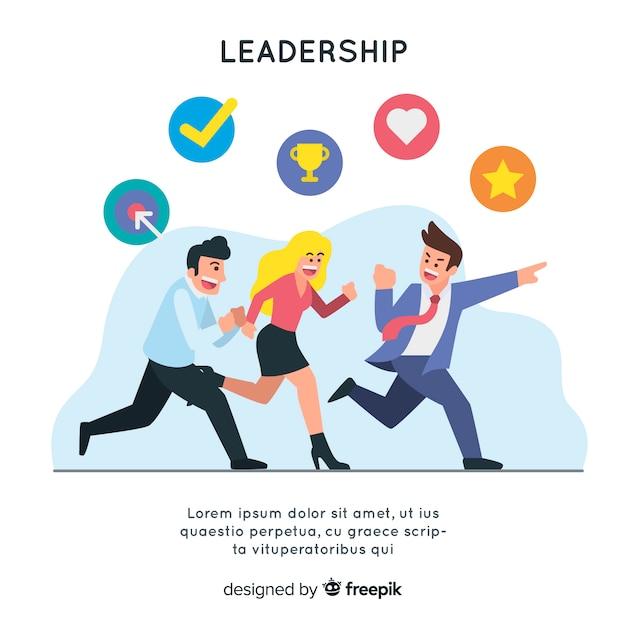 Modèle De Leadership De Fond Vecteur Premium