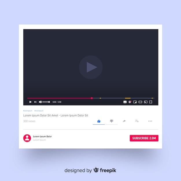 Modèle de lecteur multimédia réaliste Vecteur gratuit