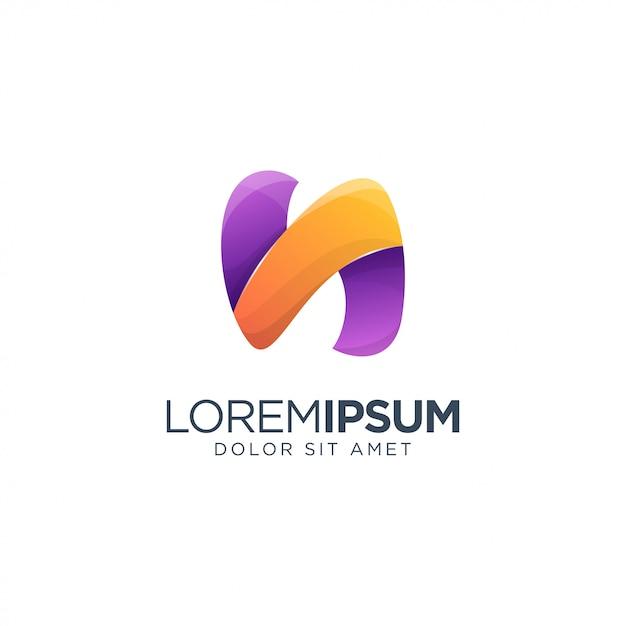 Modèle De Lettre N Logo Vecteur Premium