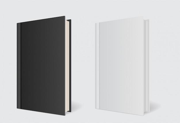 Modèle de livre de couverture de maquette sur gris Vecteur Premium