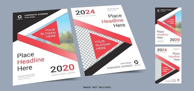 Modèle de livre de couverture pour affiches a4 Vecteur Premium