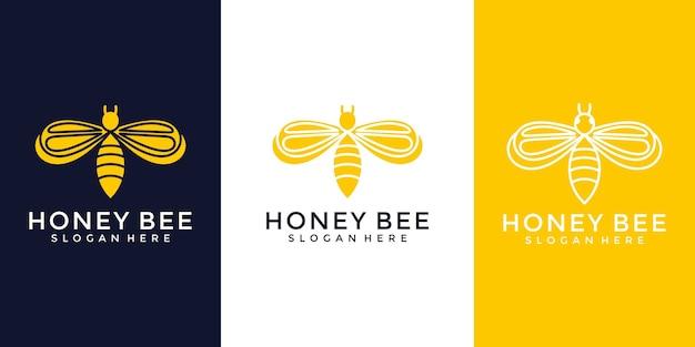 Modèle De Logo Abeille Vecteur Premium