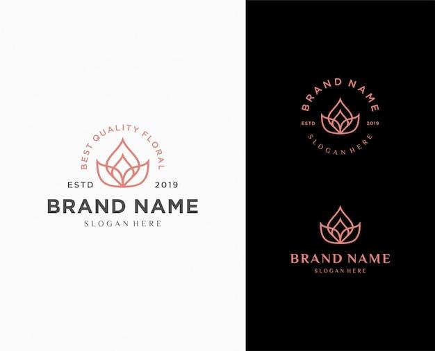 Modèle de logo abstrait fleur Vecteur Premium