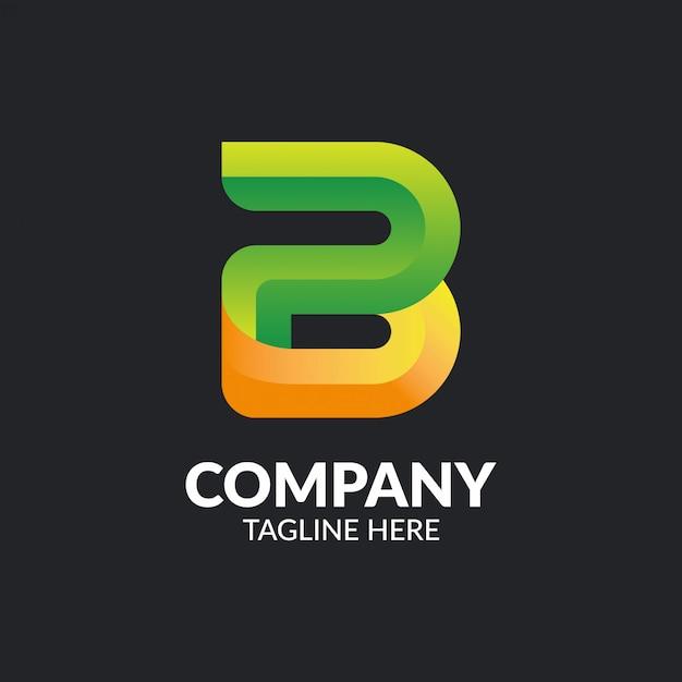 Modèle De Logo Abstrait Lettre B Vecteur Premium